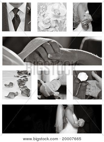 Boda colección Collage en blanco y negro