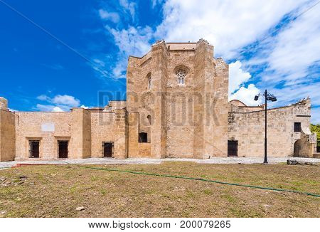 View Of The Old Fortress, Santo Domingo, Dominican Republic. Copy Space For Text.