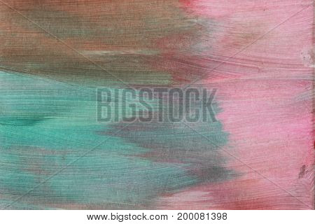 Abstract artistic textured hand painted background on canvas