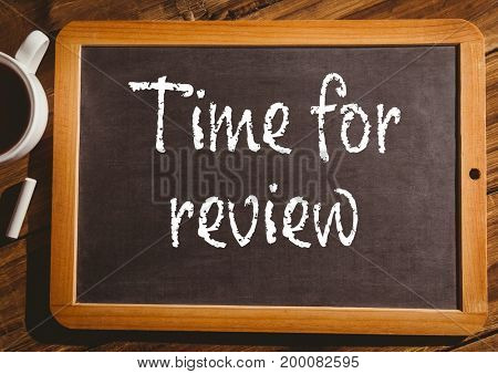 Digital composite of time for review on blackboard
