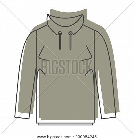 Hoodie in doodle style icons vector illustration for design and web isolated on white background. Hoodie vector object for labels and logo