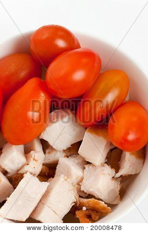 Shredded Turkey Meat And Tomato
