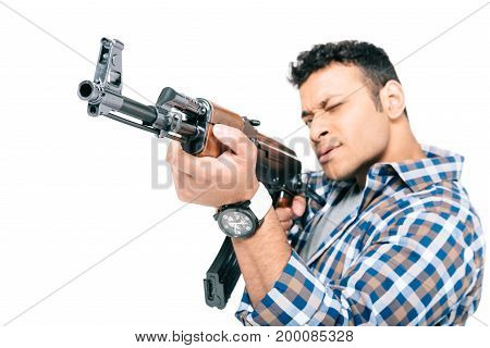 African American Man With Rifle