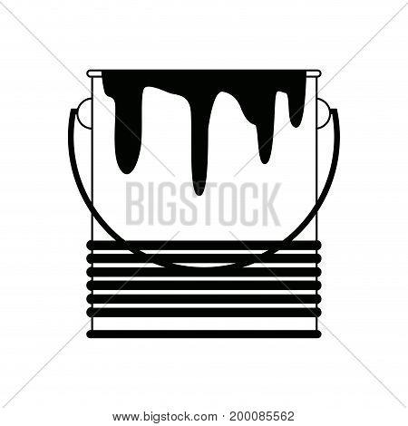 paint bucket color repair symbol vector illustratio