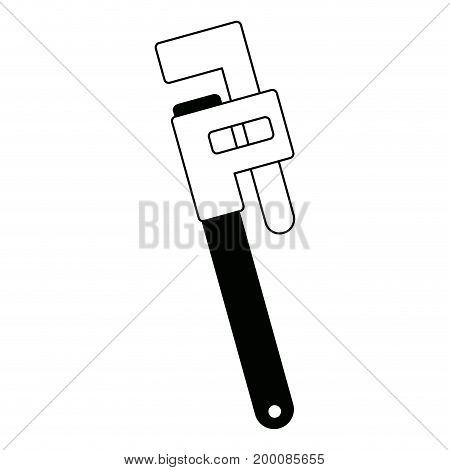 adjustable plumbing and pipe wrenche tool repair vector illustration