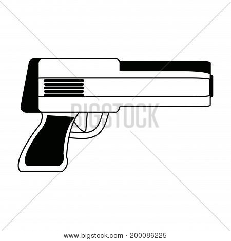powerful gun caliber forces automatic icon vector illustration