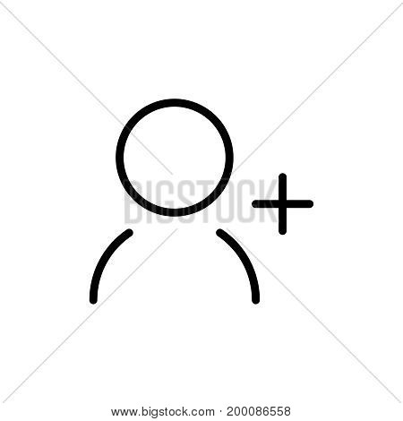 Premium user icon or logo in line style. High quality sign and symbol on a white background. Vector outline pictogram for infographic, web design and app development.