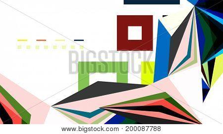 Modern triangle presentation template. Business design background, brochure or flyer concept or geometric web banner