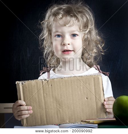 Schoolchild With Paper Blank