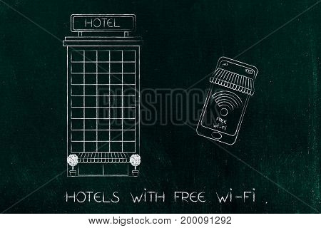 Hotel Next To Phone With Free Wi-fi Connection