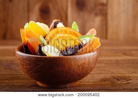 Homemade Candied Fruit In Chocolate