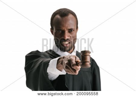 Critical Judge Pointing With Gavel