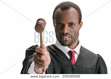 Judge Pointing At Camera With Gavel