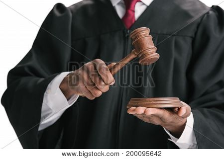 African-american Judge With Gavel