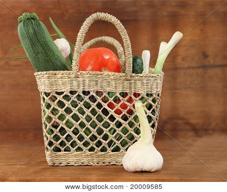 Still Life With Basket Of Vegetables