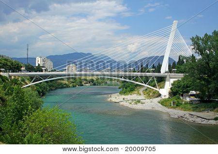 Millennium Bridge In Podgorica