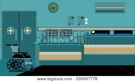 Hospital Reception Doctors Office vector colorful illustration