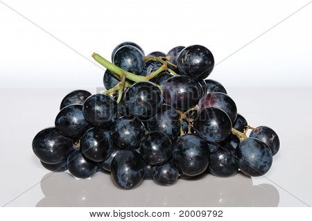 Blue Grapes From The Front