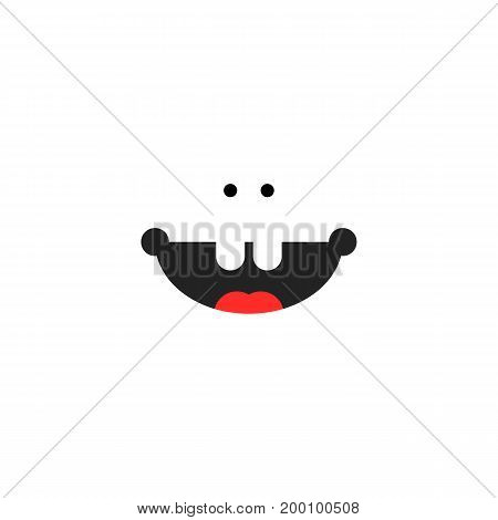 small child smile icon. concept of toothless, lifestyle, joyful, preschooler, son, preschool child, pleasure. isolated on white background. flat style trend modern logotype design vector illustration