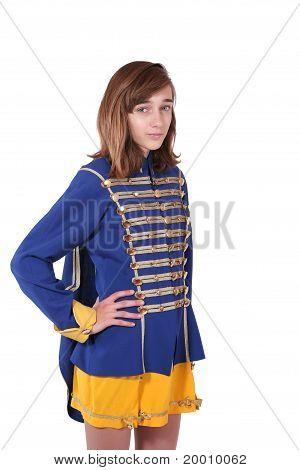Teenage Majorette In Uniform