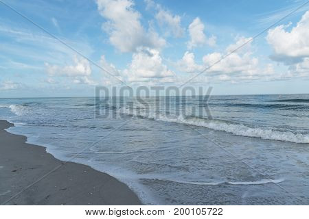 Waves of the Gulf of Mexico coming to the coast of Florida, USA