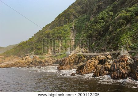 Suspension Bridge over the Storms river in Tsitsikamma National Park - South Africa