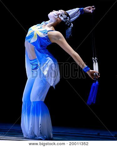 pretty Chinese Modern Dancer