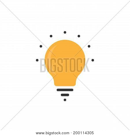 simple bulb icon with dots. concept of eco, thinking, ray, genius, halogen, intelligence, ui, creativity. bulb icon isolated on white background. flat style modern logotype design vector illustration