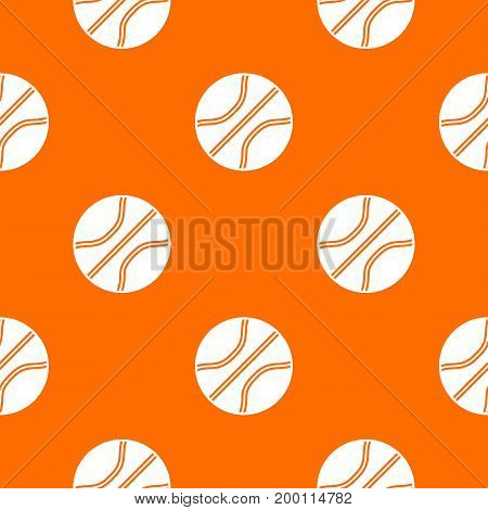 Basketball ball pattern repeat seamless in orange color for any design. Vector geometric illustration