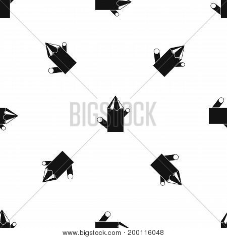 Wooden stump pattern repeat seamless in black color for any design. Vector geometric illustration