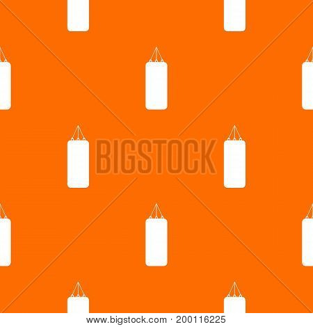 Punching bag for boxing pattern repeat seamless in orange color for any design. Vector geometric illustration