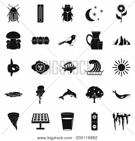 Sea icons set. Simple set of 25 sea vector icons for web isolated on white background