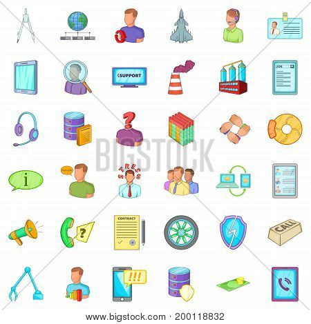 Good economy icons set. Cartoon style of 36 good economy vector icons for web isolated on white background