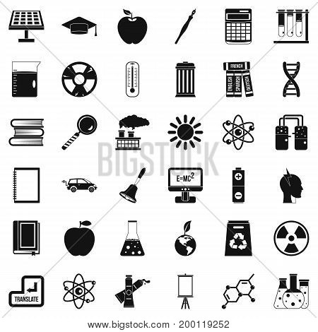 Good education icons set. Simple style of 36 good education vector icons for web isolated on white background