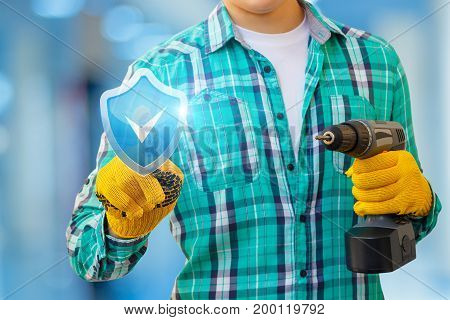 Repairer Clicks On The Button A Symbol Of Quality Assurance.