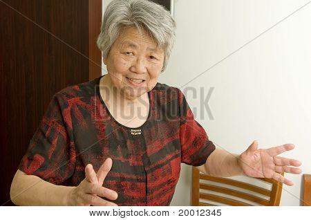 happy chinese grandma