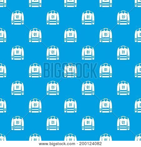 Sport uniform pattern repeat seamless in blue color for any design. Vector geometric illustration