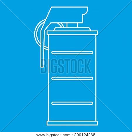 Spray icon blue outline style isolated vector illustration. Thin line sign