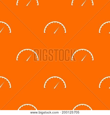 Speedometer pattern repeat seamless in orange color for any design. Vector geometric illustration