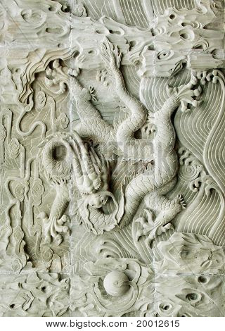 Chinese Traditional Dragon's Relief : Chinese Royal Totem