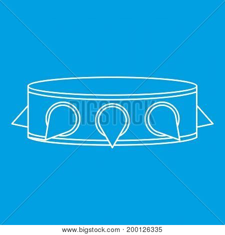 Rock collar icon blue outline style isolated vector illustration. Thin line sign