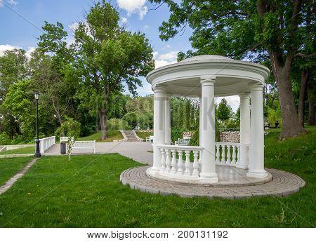 Arbor on the observation deck in the estate park D. Venevitinov
