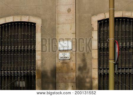 Rambla, Barcelona, Spain.
