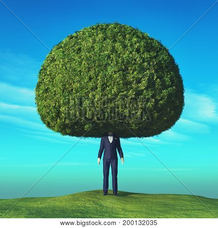 Conceptual image of a tree. This is a 3d render illustration