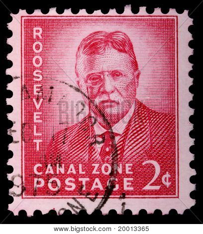 Canal Zone, Panama - Circa 1975: A 2-cent Stamp Printed In The Canal Zone, Isthmus Of Panama, Shows