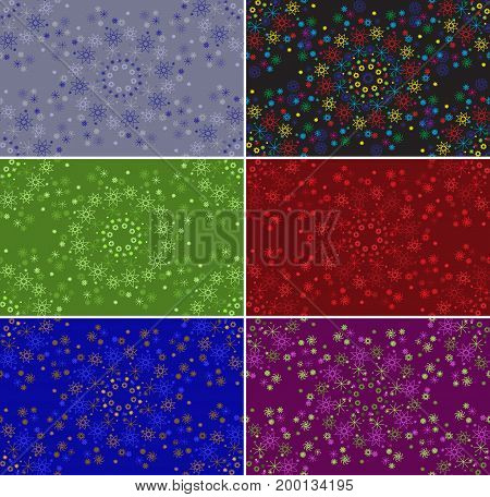 Pattern seamless from many elements in different colors, for fabric, wallpaper, wrapping paper, vector EPS10