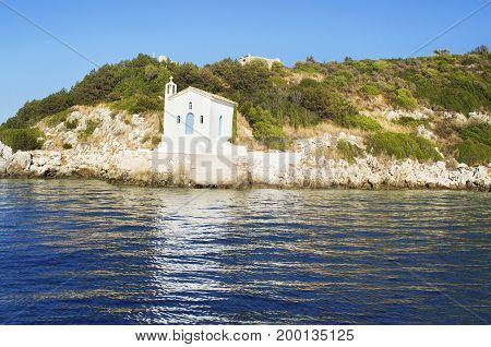 saint Andrew chapel at Ithaca Ionian islands Greece