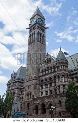 The historic Old City Hall in downtown Toronto