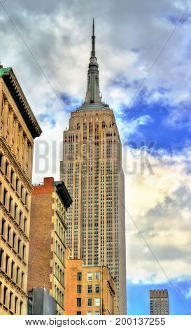 Empire State Building, the tallest in the world building from 1931 to 1970. Manhattan, New York City