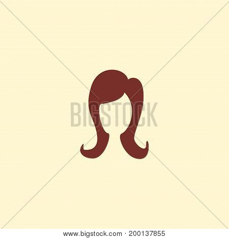 Flat Icon Hairdresser Element. Vector Illustration Of Flat Icon Female Isolated On Clean Background
